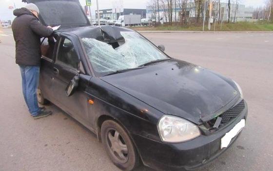 LADA Priora сбила пешехода в Смоленске