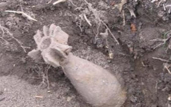 Минометную мину обнаружили в Рославле