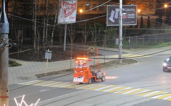 На улице Николаева в Смоленске появилась дорожная разметка