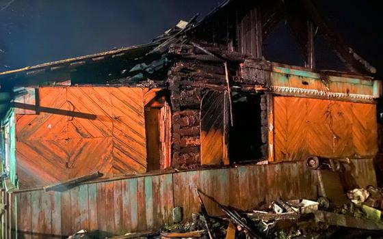 Неисправная печь привела к пожару в деревне Дивасы