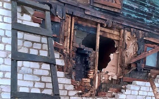 Перекал печи стал причиной пожара в деревне Павловское