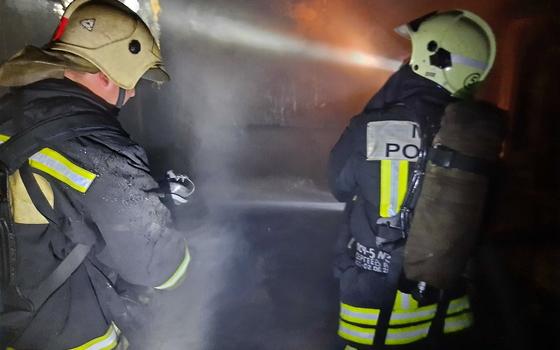 В Демидове загорелся гараж с автомобилем