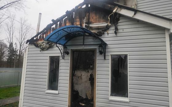 В деревне Слобода загорелась пристройка дома