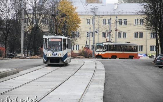 В Смоленске начали ходить трамваи на улице Николаева