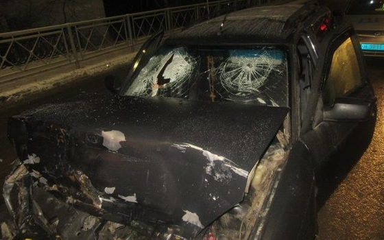 Две легковушки столкнулись ночью в Смоленске