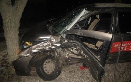 Две машины врезались в дерево в результате ДТП в Смоленске