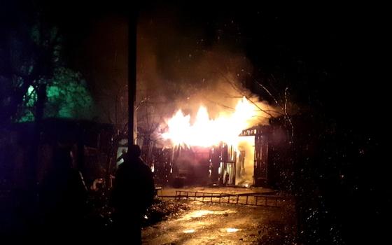 Игры с огнем привели к пожару в Гагарине