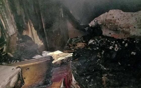 Мужчина умер при пожаре в деревне Благодатная