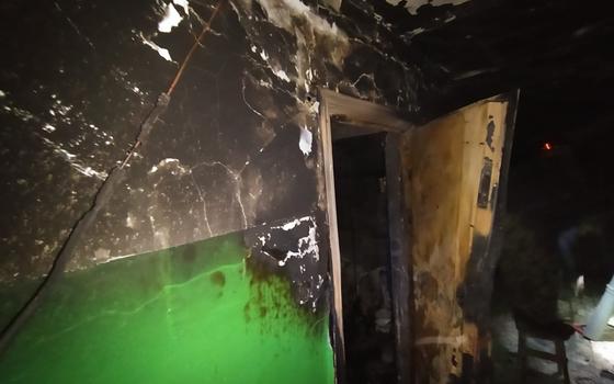 Мужчину госпитализировали после пожара в Сафонове