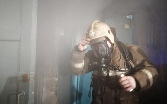 Огонь уничтожил комнату в Вязьме