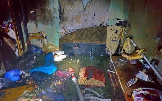 В Рославле загорелась квартира