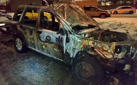 В Смоленском районе сгорела иномарка