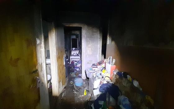 Двухкомнатная квартира загорелась в селе Вязьма-Брянская