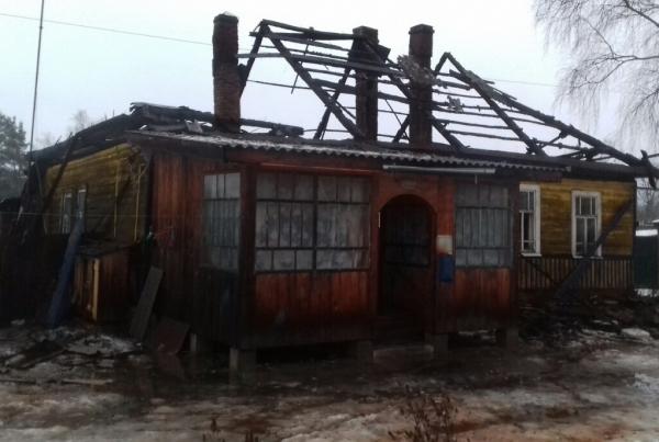 Неисправная печь привела к пожару в Демидове