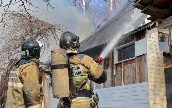 При пожаре в Дорогобужском районе пострадал человек