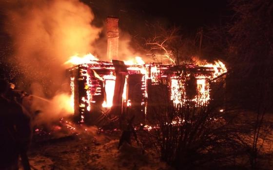 В Рославльском районе при пожаре умерла женщина