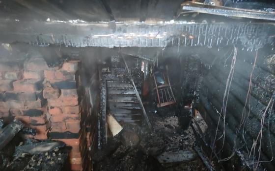 Неисправная печь привела к пожару в бане