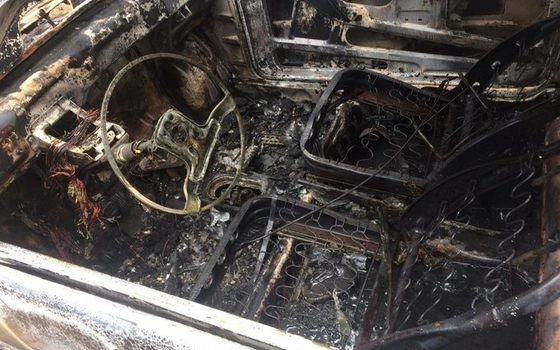 Огонь уничтожил иномарку и гараж в Починковском районе