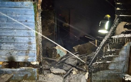 При пожаре в Сафоновском районе умер мужчина
