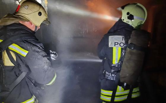 Шесть пожарных тушили возгорание в Руднянском районе