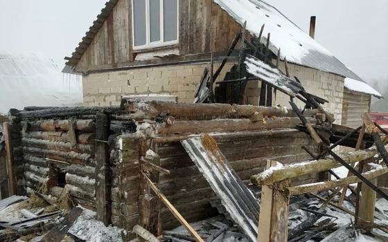 В Руднянском районе из пожара спасли 16 домашних птиц