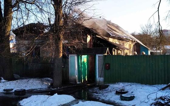 В Смоленске в результате пожара сгорела веранда