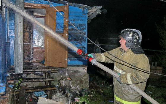В Смоленском районе ночью горела баня