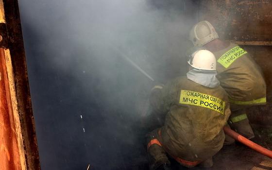 В Жирковском районе загорелся жилой дом